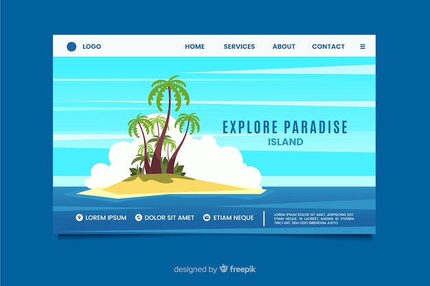 Nature landing page flat design Free Vector
