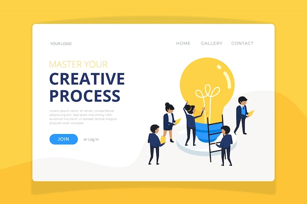 Nature landing page template Free Vector