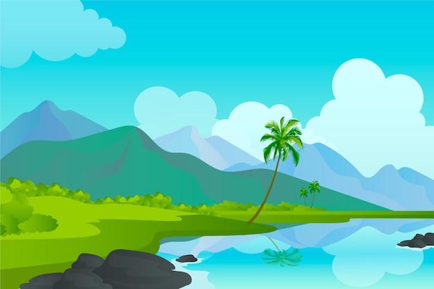 会議の背景の自然の風景 無料ベクター