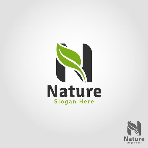 Nature - letter n logo template Premium Vector