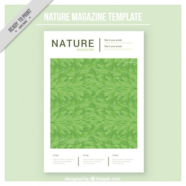 free magazine cover templates downloads - nature magazine cover template vector free download