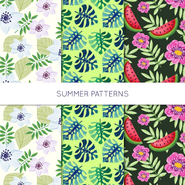 Nature pattern collection Free Vector