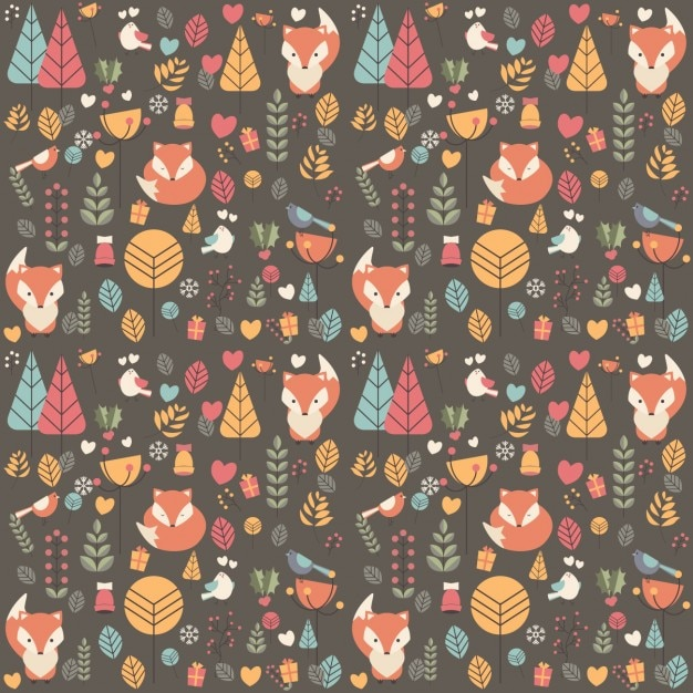 Nature pattern design Free Vector