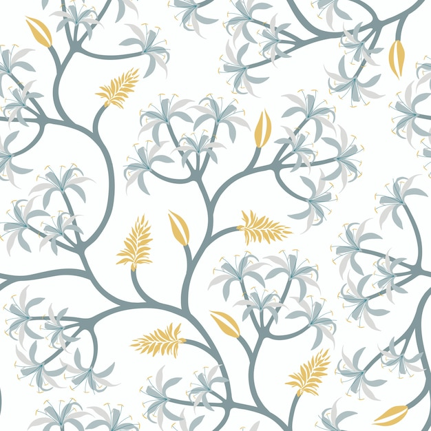 Nature plant branch wallpaper design Free Vector