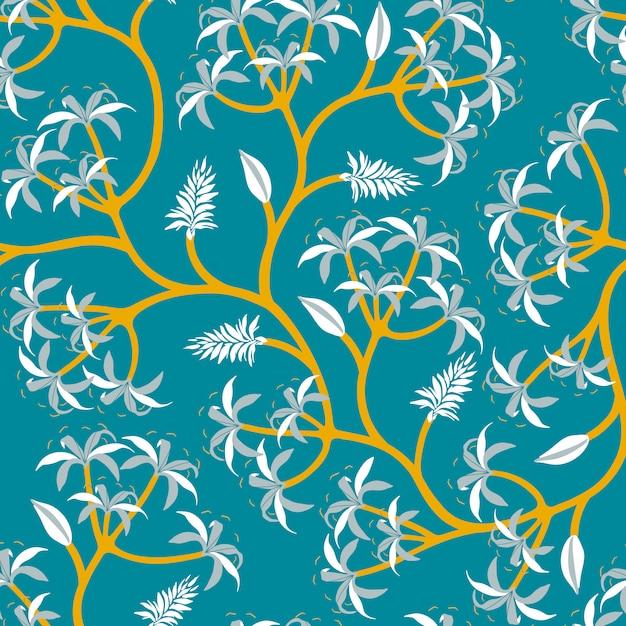Nature plant branch wallpaper design Free Vector