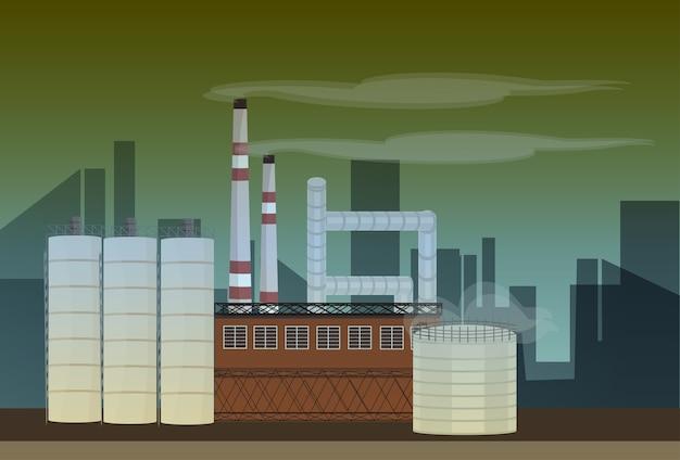 Nature pollution plant Premium Vector