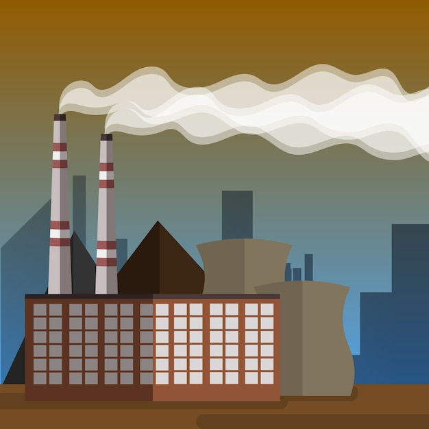 Nature pollution plant Premium Vector