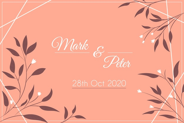 Nature save the date wedding invitation Free Vector