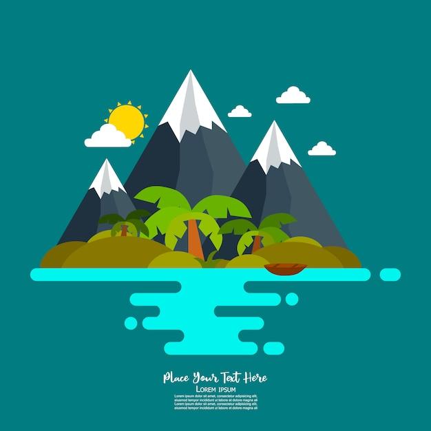 Nature scene Premium Vector