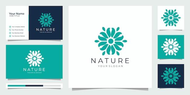 Nature simple and elegant floral monogram template, elegant logo design,business card  illustration. Premium Vector