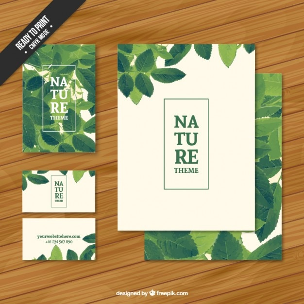 Nature stationery Free Vector
