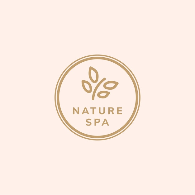 Nature therapy spa logo vector Free Vector