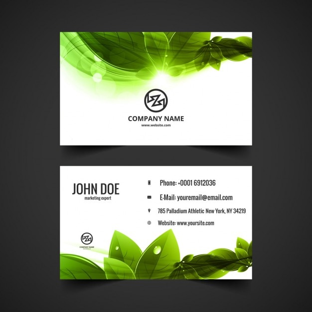 Nature visiting card design vector free download nature visiting card design free vector reheart