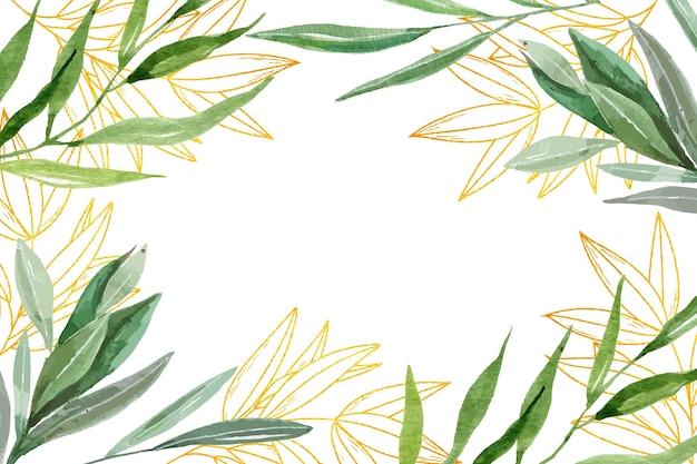Carta da parati della natura con lamina d'oro Vettore gratuito