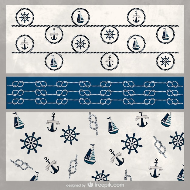 Nautical background template Vector | Free Download