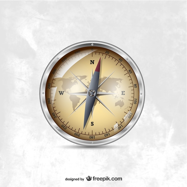 Nautical compass Free Vector