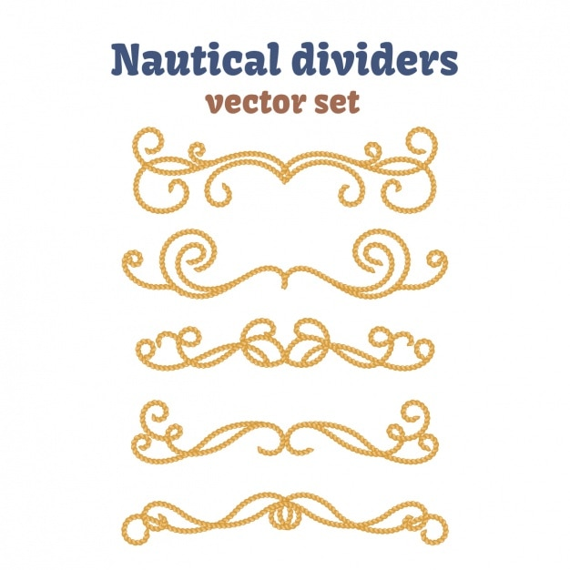 Nautical dividers collection Free Vector