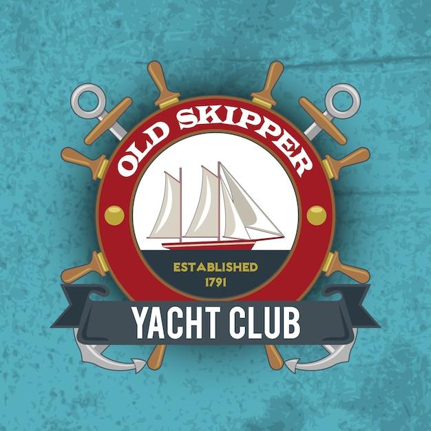 Nautical emblem vintage Premium Vector