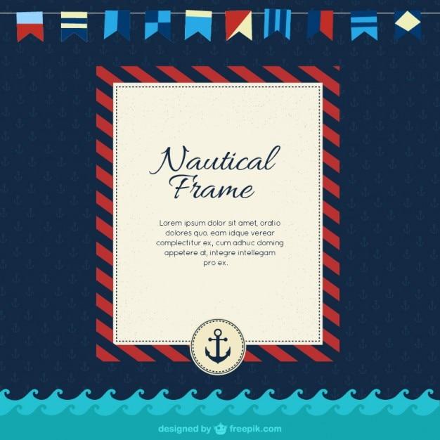 nautical frame premium vector - Nautical Picture Frame
