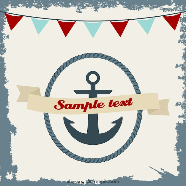 Nautical invitation card design Vector Free Download