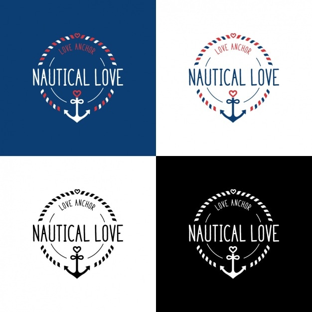 Nautical logo templates Vector | Free Download