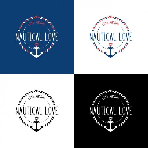 Nautical logo templates Free Vector