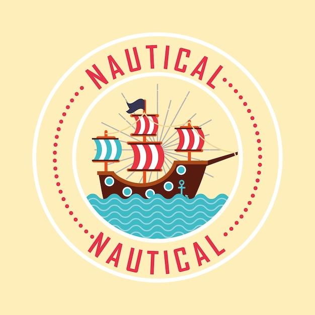 Nautical maritime design Premium Vector