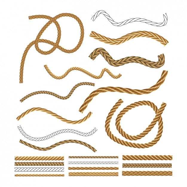 Nautical rope collection Free Vector
