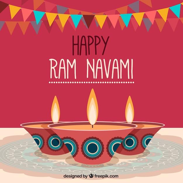 ラムnavamiのお祝いの背景 無料ベクター