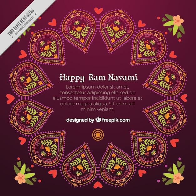 幸せなラムnavamiの抽象的な装飾用の背景 無料ベクター