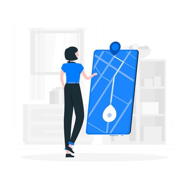Navigation concept illustration Free Vector