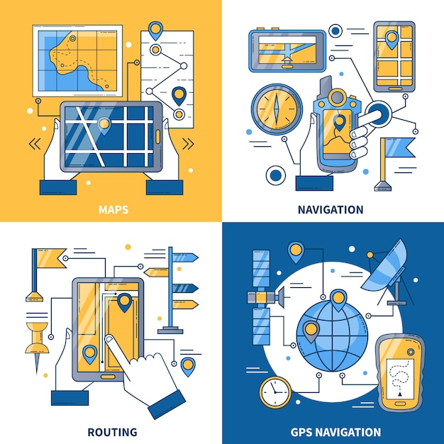 Concetto di design di navigazione Vettore gratuito