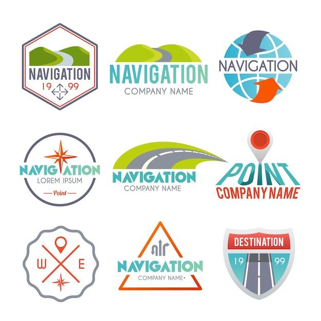 Navigation label set Free Vector