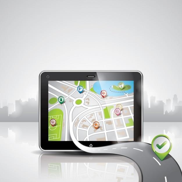 Navigator background design Free Vector
