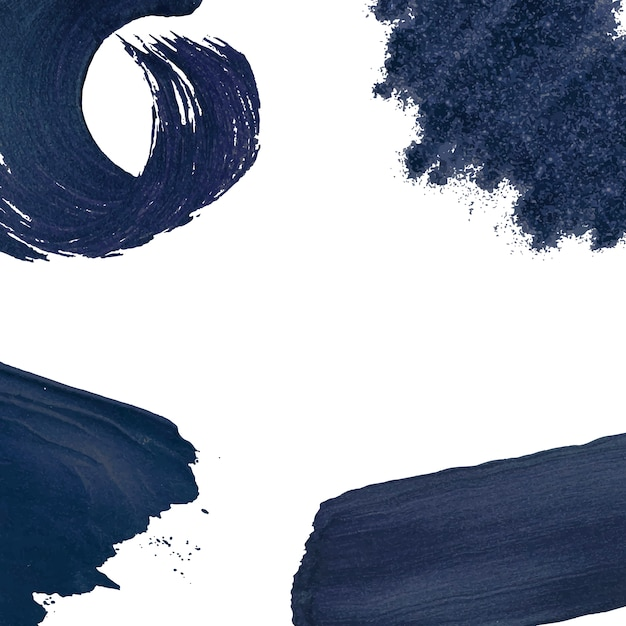 Navy brush strokes collection Free Vector