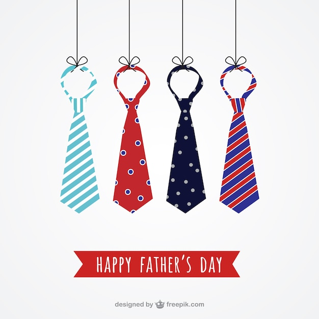Neckties fathers day card