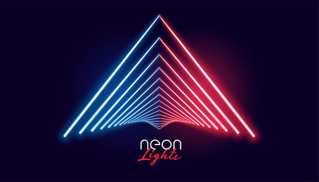 Nelights geometric shape in red and blue color Free Vector