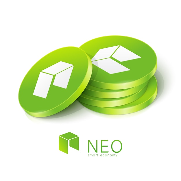 Neo cryptocurrency tokens Premium Vector