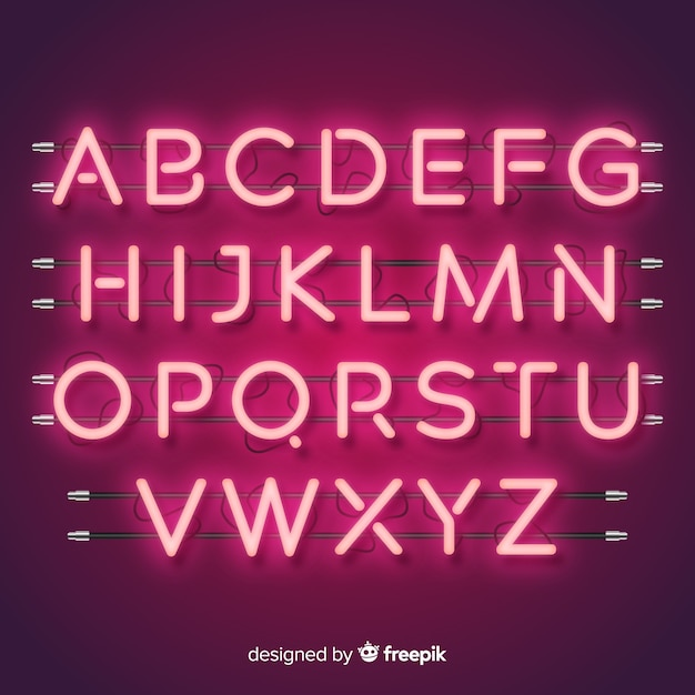 Neon Font Vectors, Photos and PSD files | Free Download