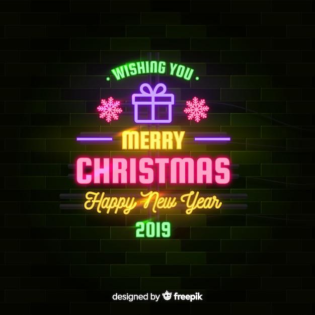 neon christmas background 52683 2266