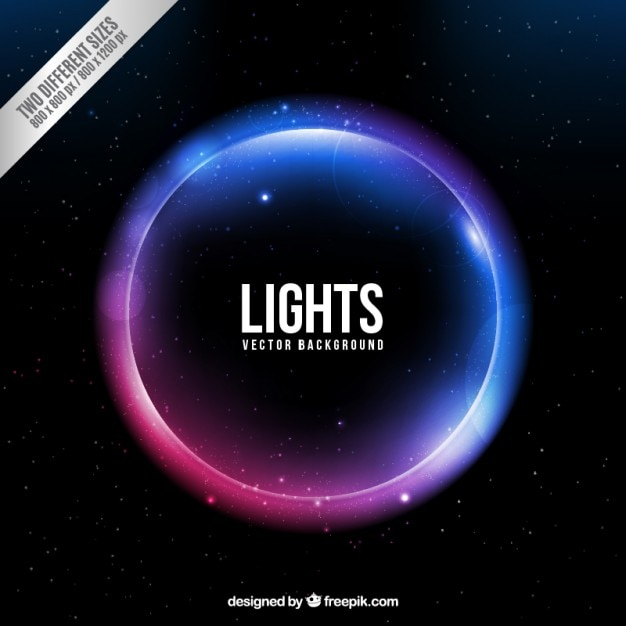Neon circle background vector free download for Bright lights design center