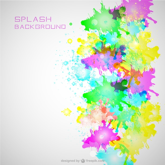 Free Vector Neon Color Splash Background