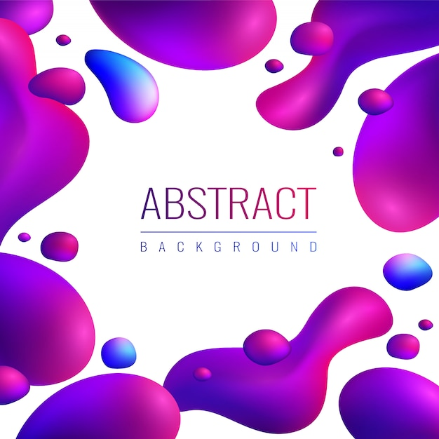 Neon drops abstract background Free Vector