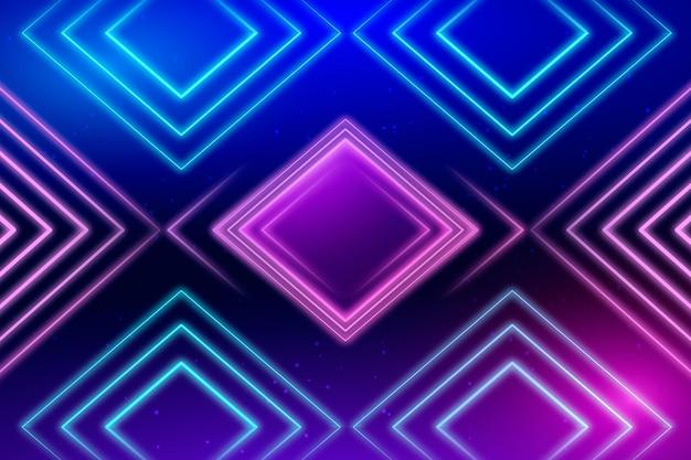 Неоновый геометрический фон Бесплатные векторы