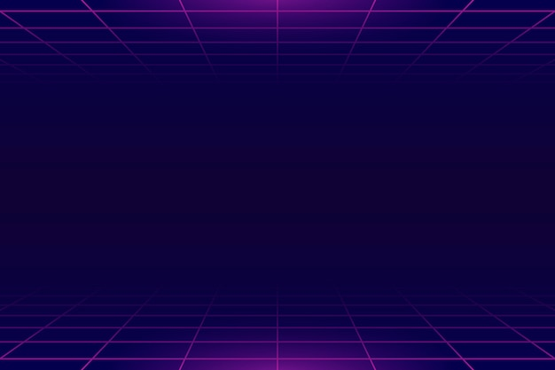 Free Vector Neon Grid Background