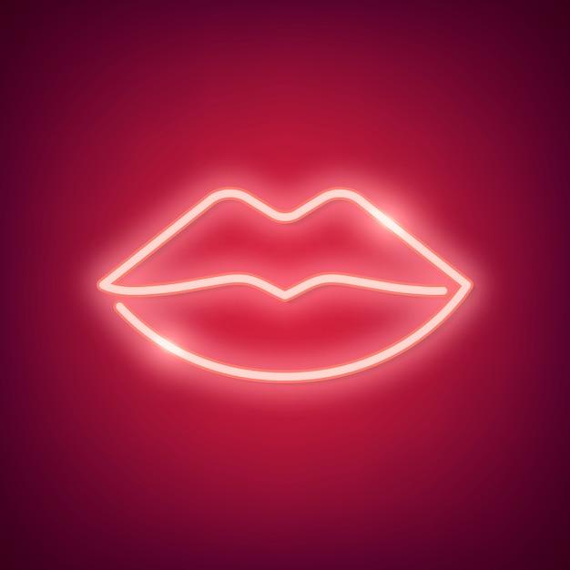 Neon heart illustration Free Vector
