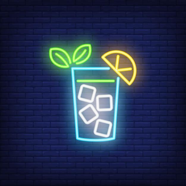 Neon icon of lemonade Free Vector
