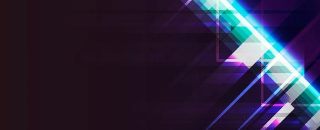 Neon light background Free Vector