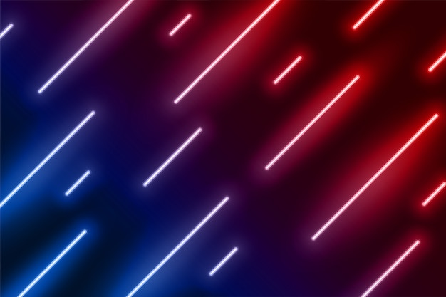 Эффект неонового света показывает линию в диагональном направлении Бесплатные векторы