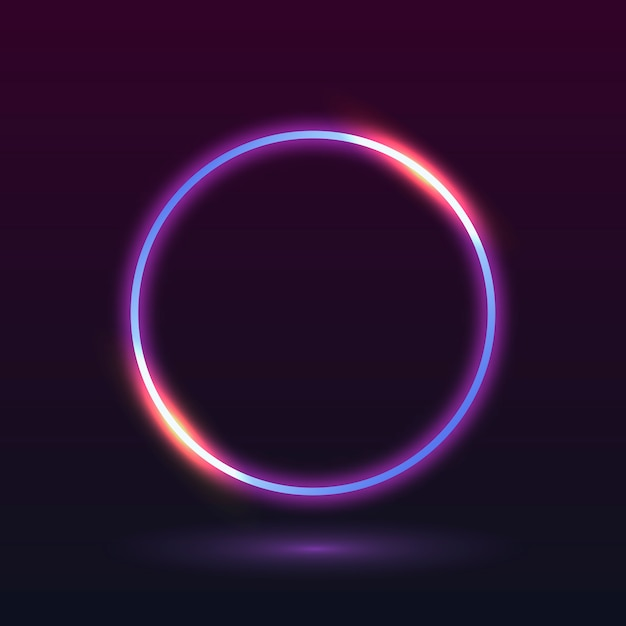 Neon light frame Free Vector